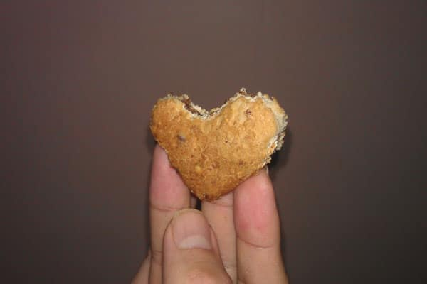 Heart-shaped bread