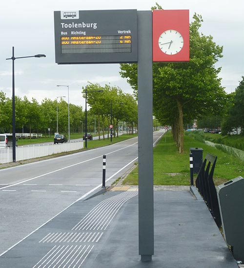 A bus stop at Hoofddorp