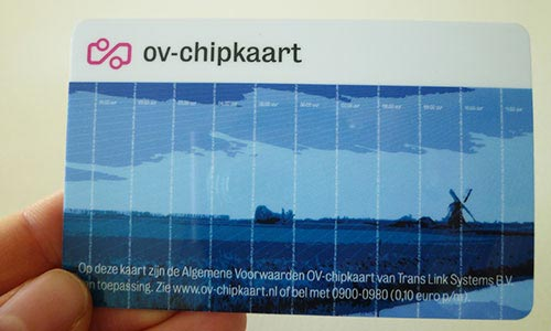 OV-Chipkaart - To travel around in Holland