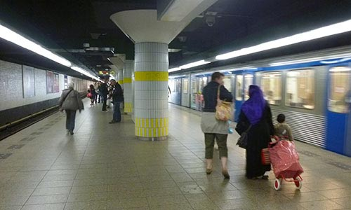 Inside the Waterloopein Metro Station (Amsterdam)