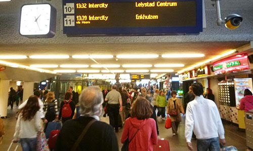 At Amsterdam Central Station