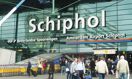 Schiphol International Airport in Holland