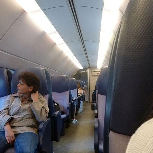 Interior inside an Intercity Train
