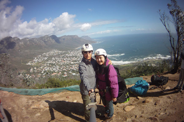 Ian and Celes, at Lion's Head (Cape Town)