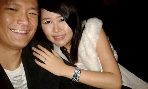 Our Engagement - Me with Ken Soh at City Space, Swissotel The Stamford