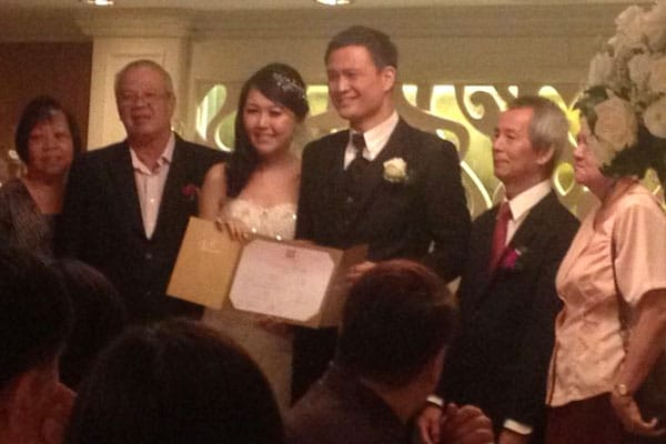 Ken Soh and Celestine Chua, married