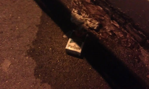 Litter: Cigarette box
