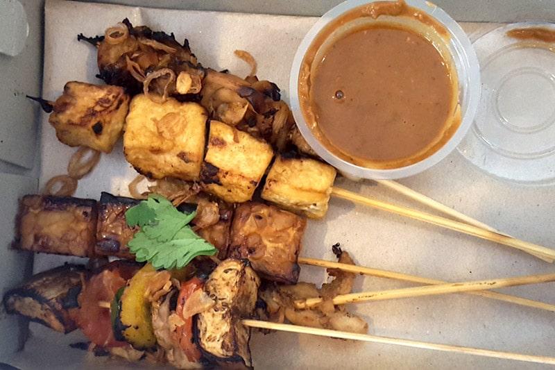 Ubud: Kismet Restaurant, Vegetarian Skewers