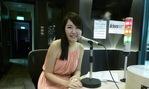 Me in the Kiss92 FM Recording Studio! :)