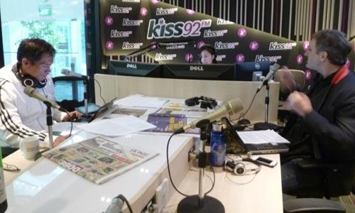 At Kiss92 FM Studio