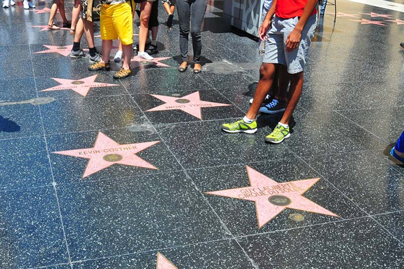 Hollywood Walk of Fame at Los Angeles!
