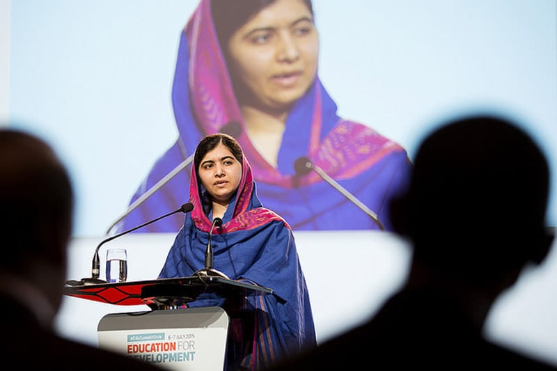 Malala Yousafzai, speaking at the Oslo Education Summit