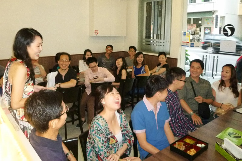SG PE Readers Meetup (Jul 27, 2014): Everyone laughing