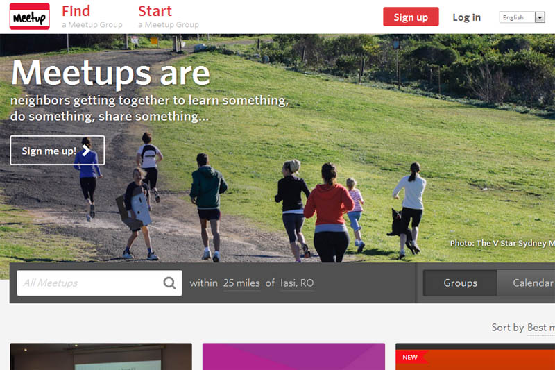 Meetup.com Website