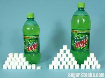 Sugar in Mountain Dew, in sugar cube form