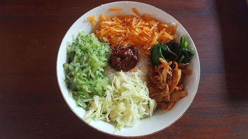 Ubud: Nine Heaven Vegan Warung, Korean Bibimbap