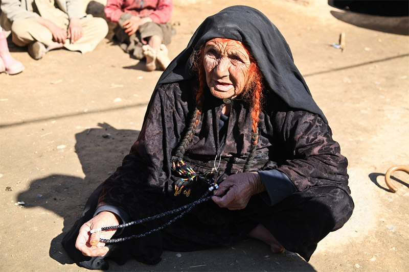 Old woman beggar in Afghanistan