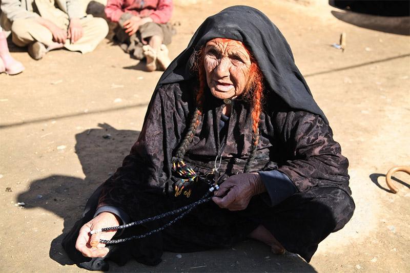 Old woman beggar in Afghanistan