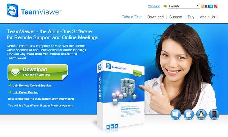 Overexposed model: Teamviewer