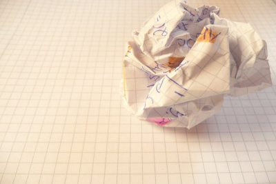 A crushed ball of paper