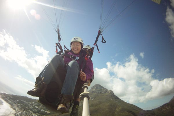 Celes Paragliding in Cape Town, off Lion's Head