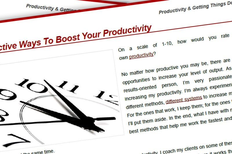 PEBook: Ways to Boost Your Productivity