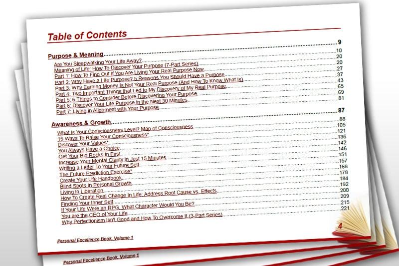 PEBook: Contents