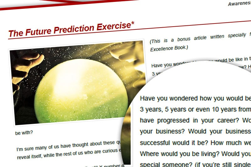 PEBook: The Future Prediction Exercise