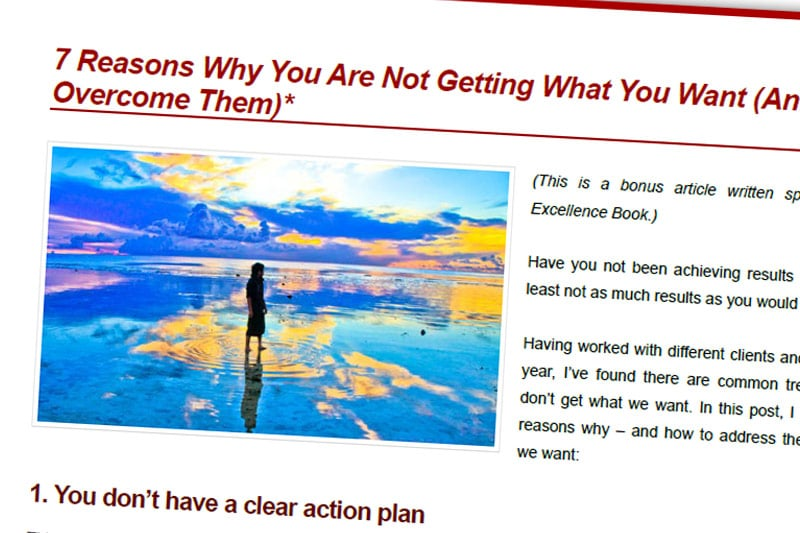 PEBook: 7 Reasons Why You Are Not Getting What You Want