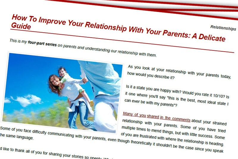 PEBook: How to Improve Your Relationship with Your Parents