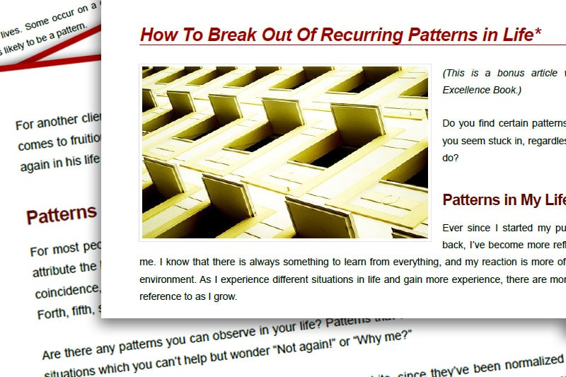 PEBook: How to Break Out of Recurring Patterns in Life