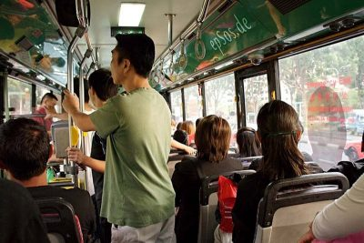 People on a bus