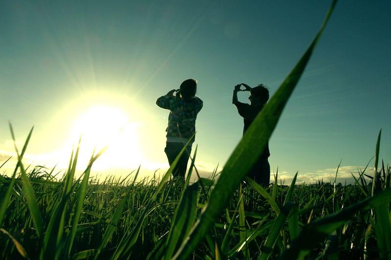 People on a field