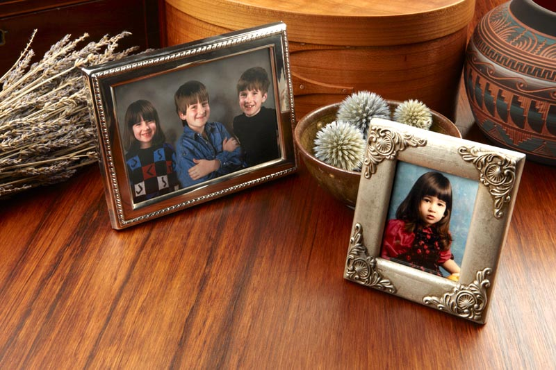 Photo frames of family, loved ones