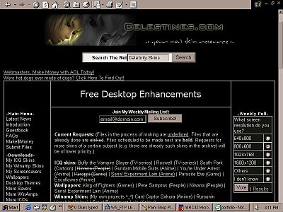 Screenshot of Celestine's World in 2000