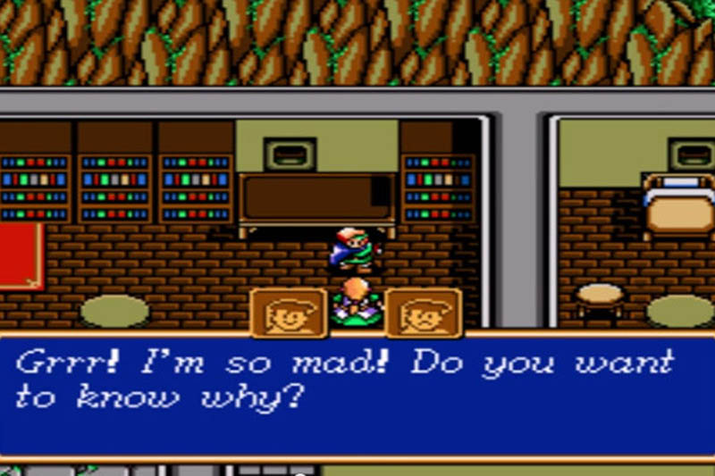 Dialogue with a NPC in Shining Force (game)