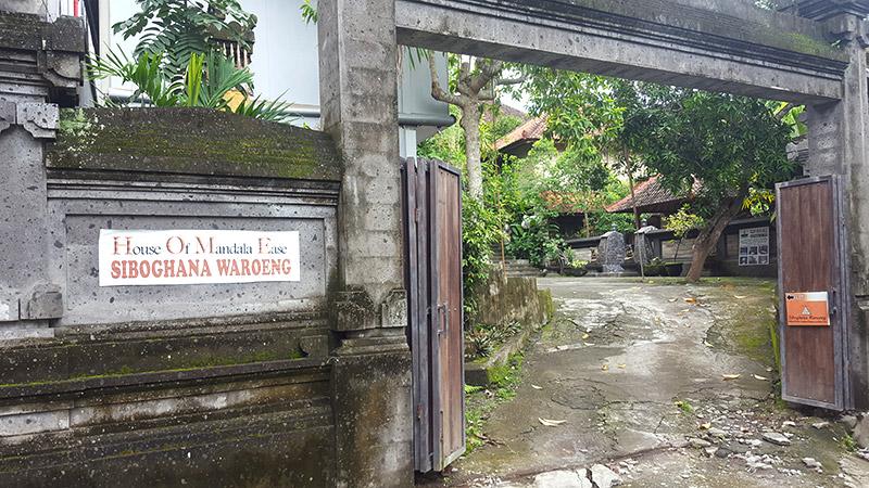 Ubud: Siboghana Waroeng, Entrance