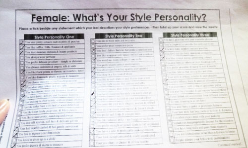 Style Personality Questionaire