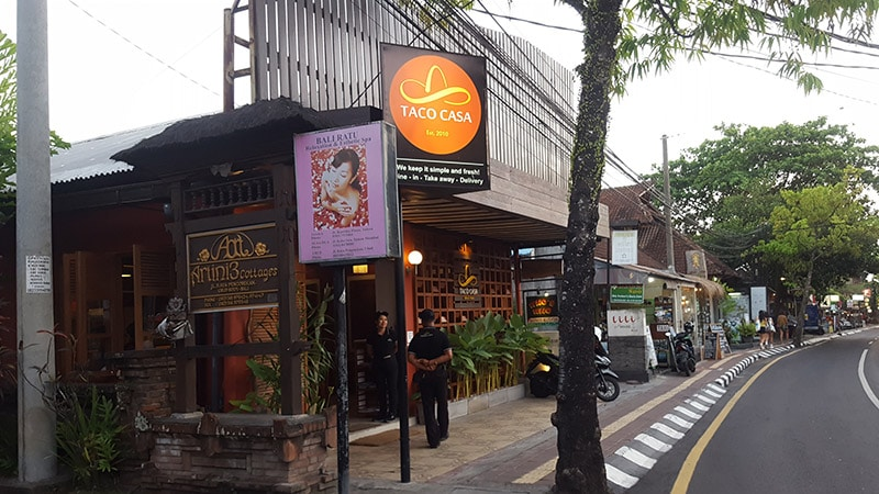 Ubud: Taco Casa Entrance