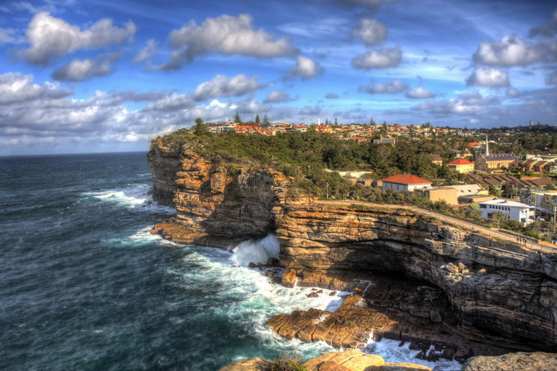 The Gap, an ocean cliff in Sydney
