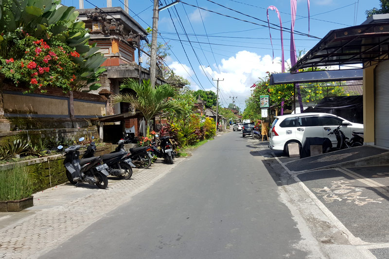 Ubud village: Road