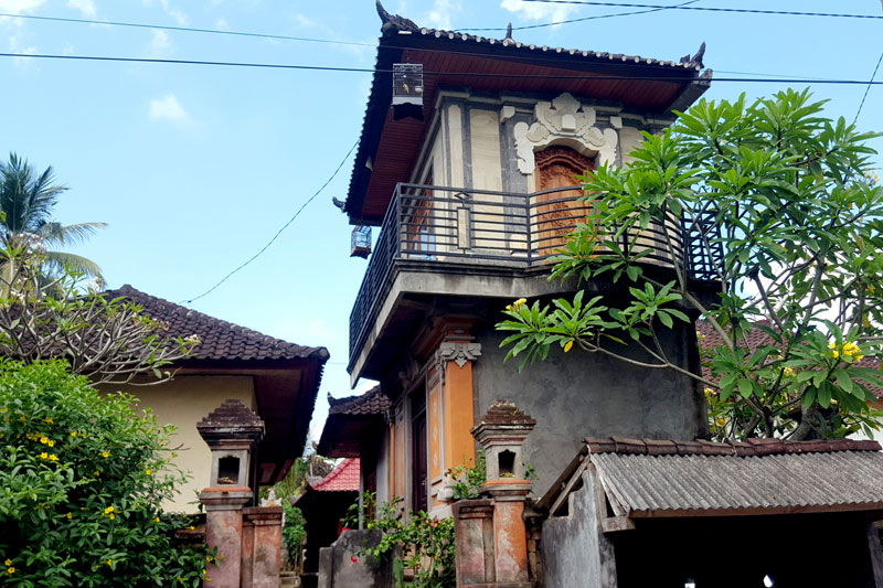 Ubud village: One of the houses