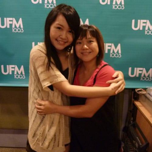 Hug: Xiaozhu (UFM 100.3 Deejay) and Celes
