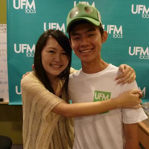 Hug: Yanwei (UFM 100.3 Deejay) and Celes