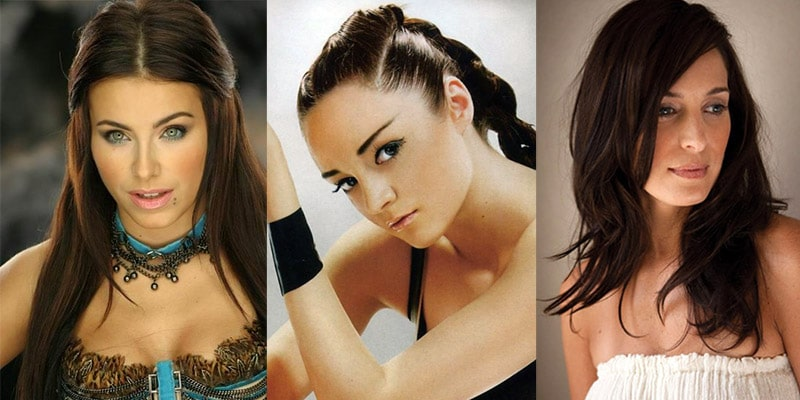 Ukrainian celebrities: Ani Lorak, Anna Bessonova, and Chantal Kreviazuk