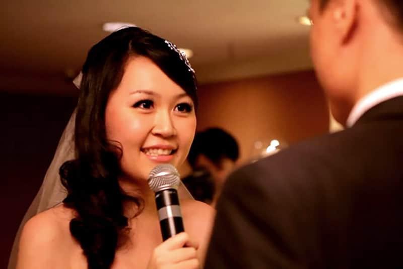 Celes reciting wedding vows