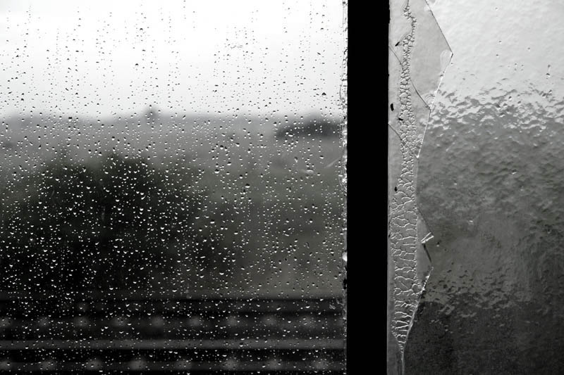 Watching Rain through a Window