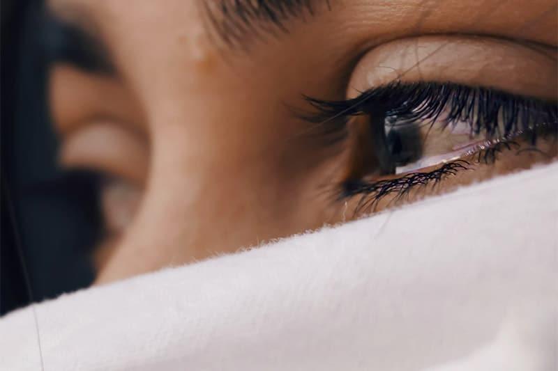 Sad eyes of a woman